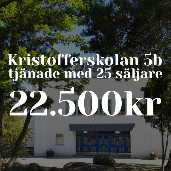 Kristoffersskolan tjänade 22.500kr